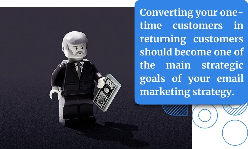 Converting your one-time customers in returning customers should become one of the main strategic goals of your email marketing strategy.