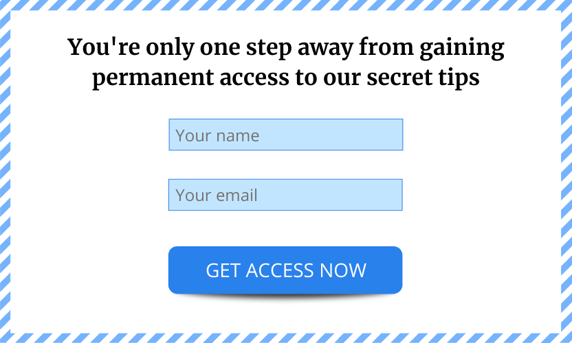 An example of a sign-up form that contains four important things: an attention-grabbing headline, a name field, an email field, and a call to action button.