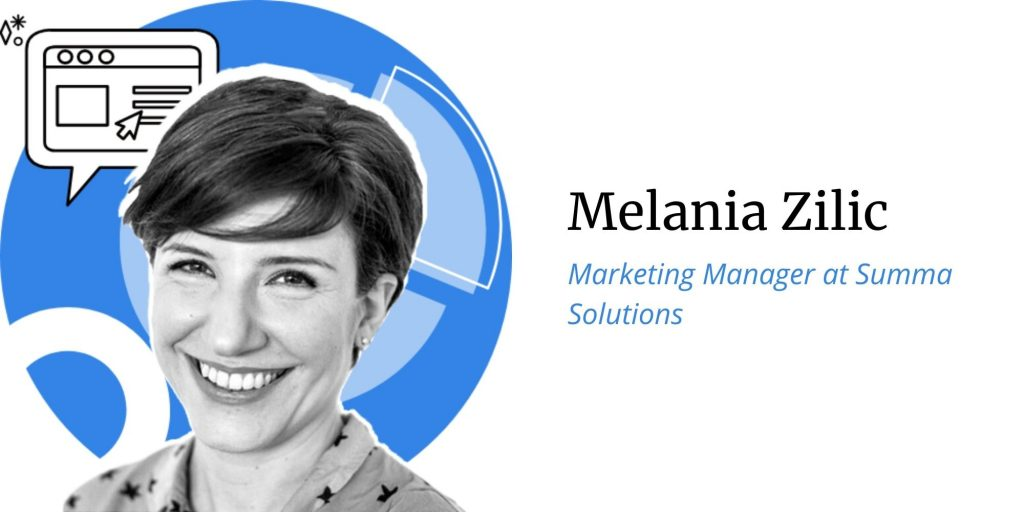 Melania Zilic, Marketing Manager at Summa Solutions, Q&A with ConversionAdvocates on the topic of opportunities, threats, predictions for Black Friday and Cyber Monday 2020