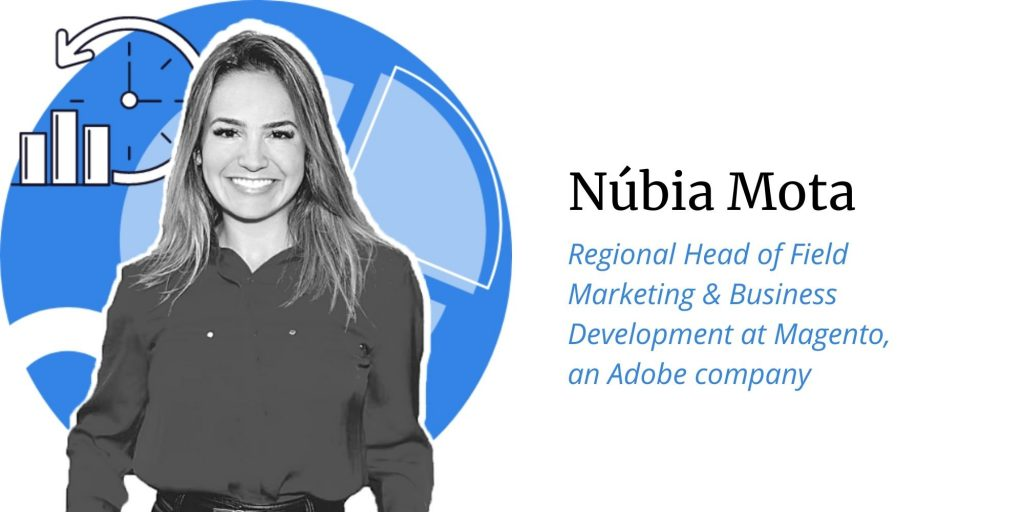 Nubia Mota, Regional Head of Field Marketing & Business Development at Magento an Adobe company, Q&A with ConversionAdvocates on the topic of opportunities, threats, predictions for Black Friday and Cyber Monday 2020