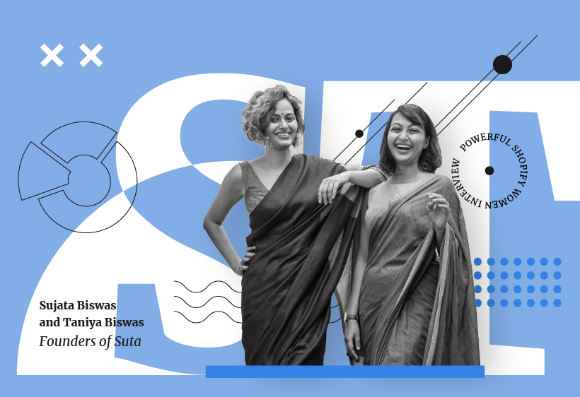 Sujata Biswas and Taniya Biswas, founders of Suta, for the Powerful Shopify Women interview